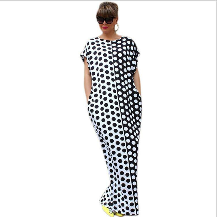 Pure Plus Black Mesh Polka Dot Maxi Dress Pics 1