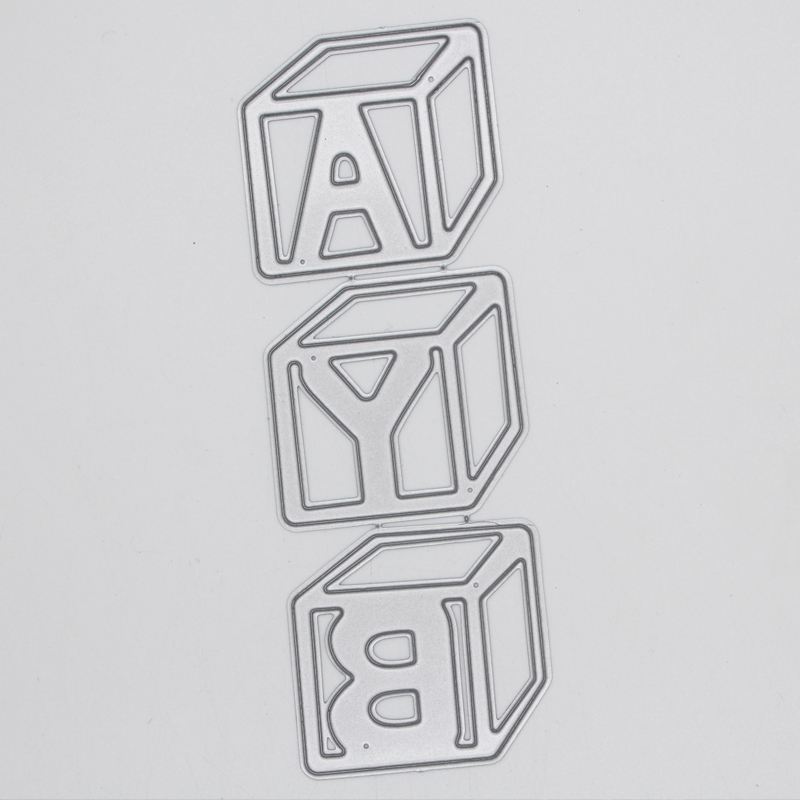 Cube shape letter 39 B Y A 39 Metal Cutting Dies For DIY Scrapbooking Embossing Photo Album Decorative Crafts 42 120 mm in Cutting Dies from Home amp Garden