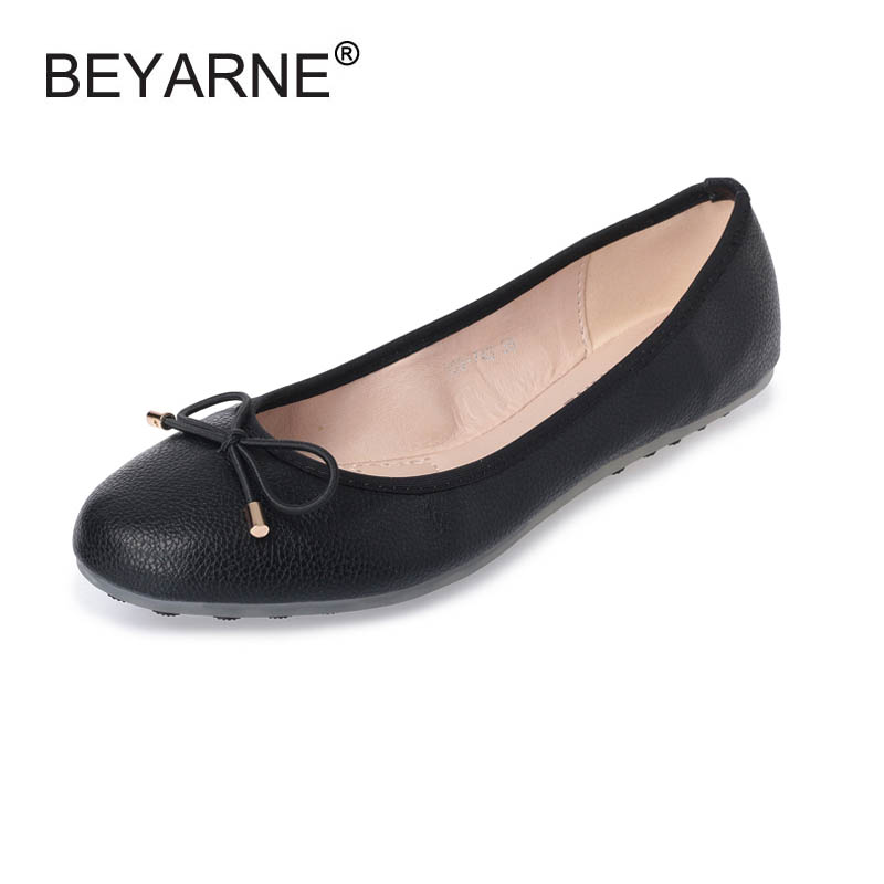 New Fashion Bowtie Round Toe Slip-on Women Flats Ladies Casual Plain Ballet Flats Size 35-41 Women Ballerinas Flats For Women women casual slip on flats fashion ladies casual flat shoes new women s round toe shallow mouth flats big size 34 47 ballerinas