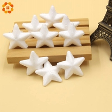 50PCS 35MM Mini White Star Foam Christmas Ornaments Tree Stars for Party Decoration Kids Gift DIY Craft Supplies