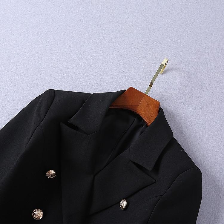 De Section Taille Robe Sauvage Noir Longue Printemps Veste Piste La Haute Nouveau Mode Costume Double Boutonnage Qualité Dans 2019 Trajet À Manteau ZSxOqn6w