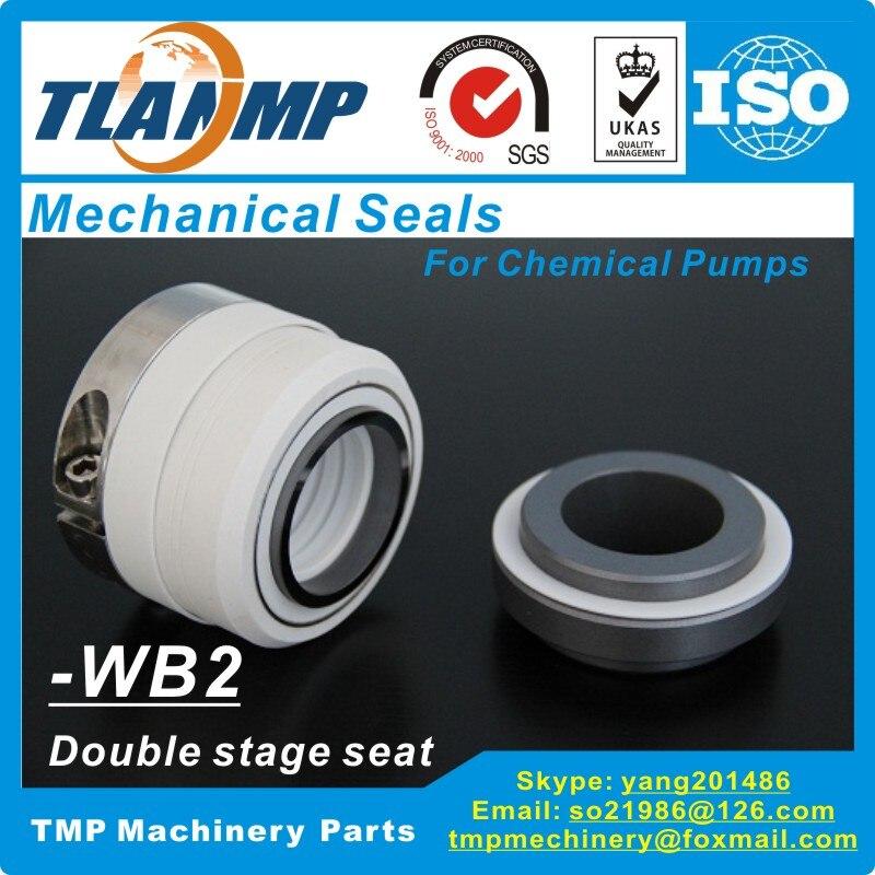 Joints mécaniques à soufflet en téflon PTFE WB2/40 de WB2-40 pour pompes chimiques résistantes à la Corrosion avec siège à deux étages (SiC/SiC/PTFE)