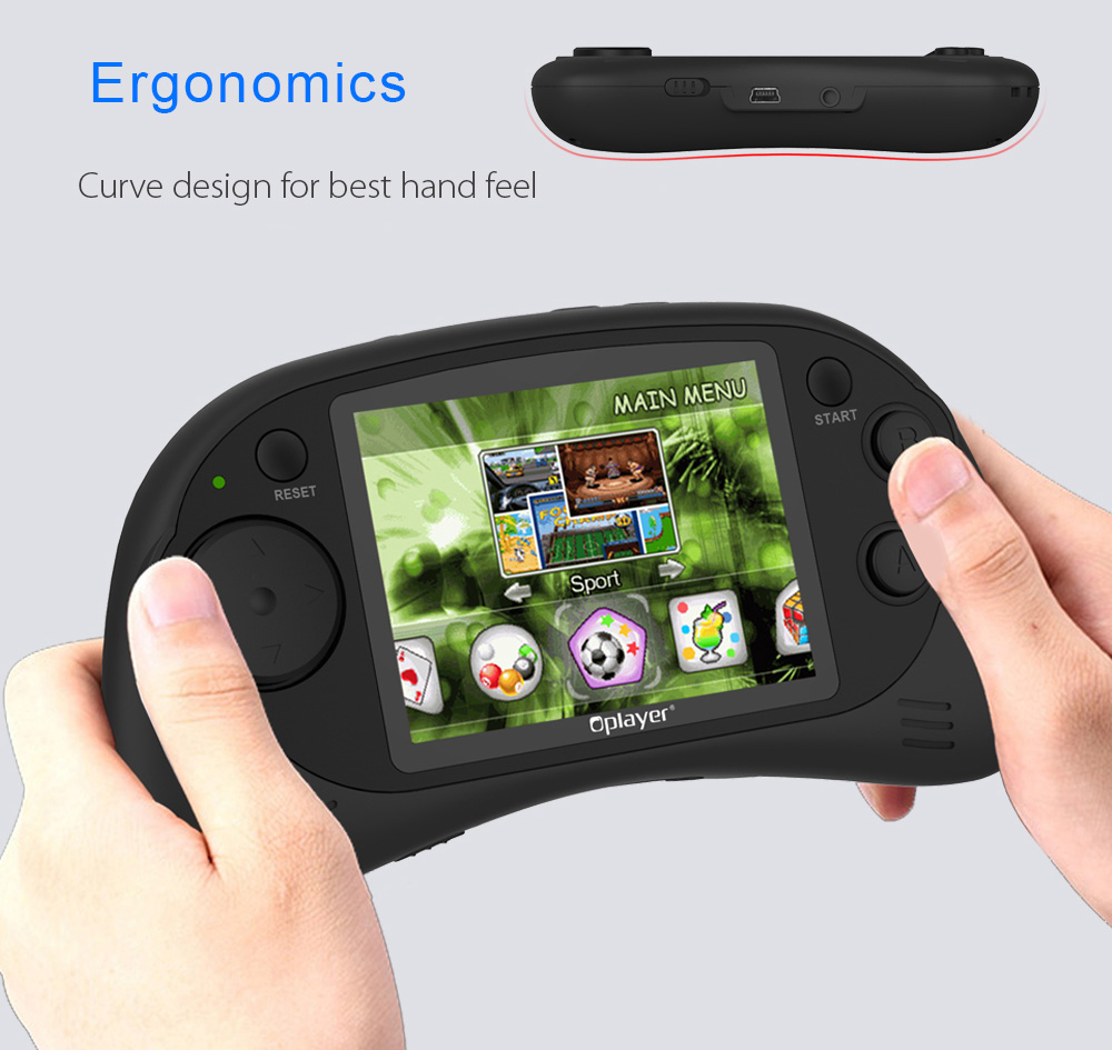 video Oplayer MGS2702B Mini Handheld Game Console LCD
