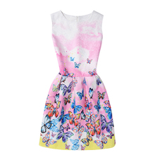 Butterfly Floral Teenagers Dresses for Girls 6-12Years