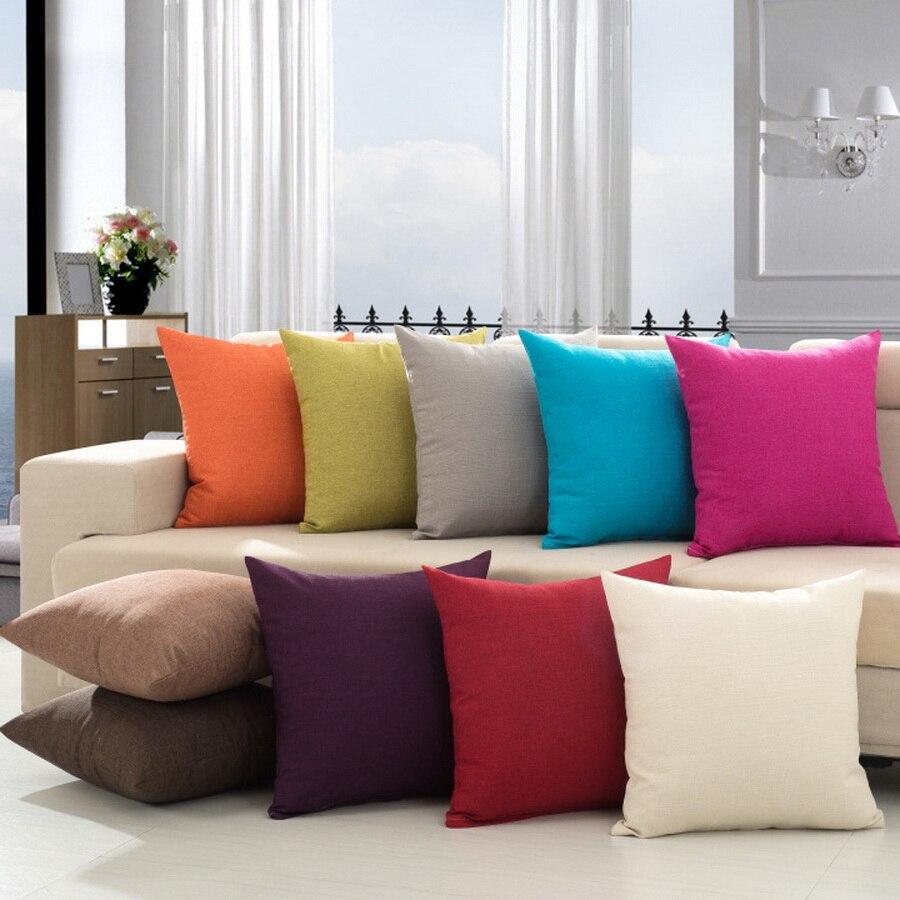 Винтидж калъф за възглавница памук декоративни възглавница покритие диван офис места за сядане домашен текстил цвят модерен дело 45см 18inch