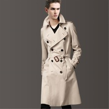 Spring Autumn Male Simplicity Trench Men's Clothing Fashionable Casual with Belt