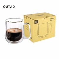 OUTAD NEW Transparent Double Layer Glass Tea Heat Resistant Cup Coffee Mug Insulation Cup Healthy Drink
