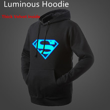 Blue Luminous Fleece Hoodie