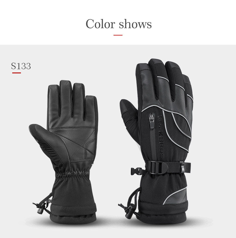 b9d359f44ef265 Details about RockBros Skiing Gloves Thermal Waterproof Ski Snowboard Gloves  Windproof Gloves
