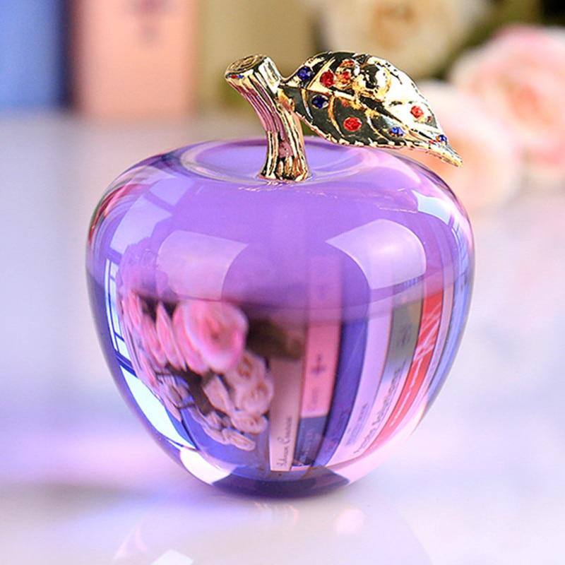 80 MM Crystal Apple-briefbeschwerer Hochzeit Dekoration ...