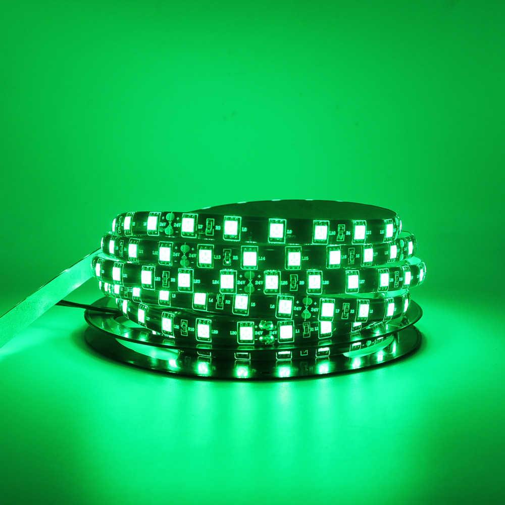 RGB Flexible LED Lampu Strip 120 LED/M 5050 3528 SMD 12 V Tahan Air Rumah KTV Bar Liburan Decro pita LED Lampu Mobil Lampu 1 M 5 M