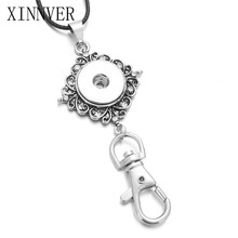 Xinnver Snap Jewelry Snap Button Pendant & Necklace For Women Crystal Button Pendant Fit DIY 18mm Snaps Jewelry