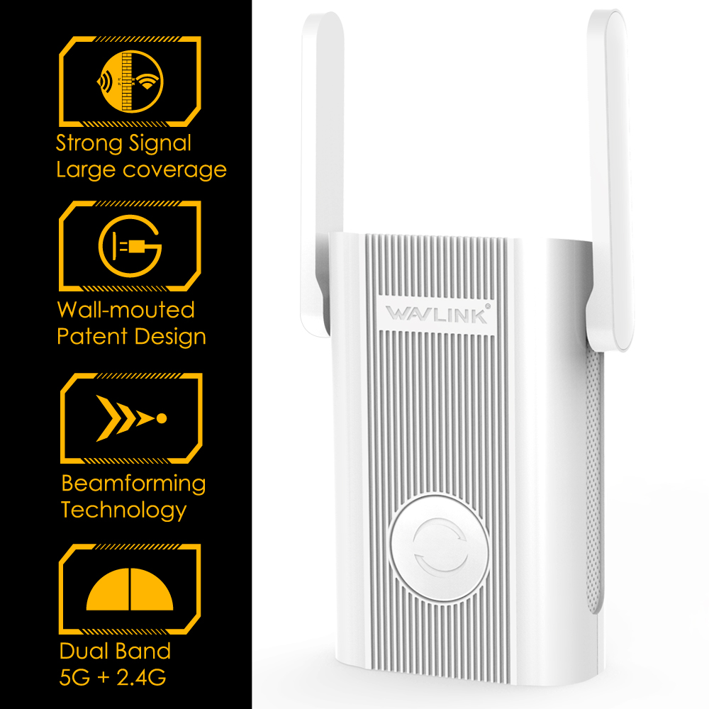 Wavlink WiFi Range Extender Repeater 1200Mbps Signal Booster 2.4G + 5Ghz Dual Band wifi Amplifier Repeater/Wireless Access Point