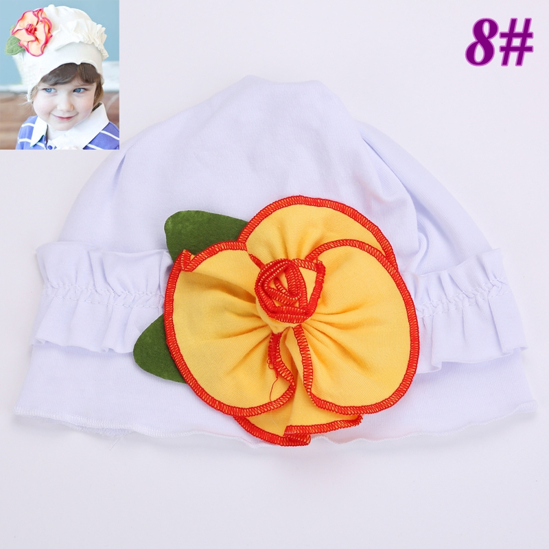 48f6c118646d US $20.25 |Cute Baby boys hats flower gorro bebe TOP bone!cotton girls  summer beanies AMOUR/Girls/flower cap #2B1501 10 pcs/lot (14 STYLES)-in  Hats & ...
