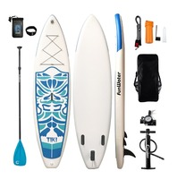 FunWater 320*84*15cm Inflatable Paddle Board Sup W/ Paddle,Bag,Leash,Pump,Phone Bag