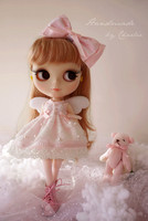 Free Shipping High Quality Handmade 2pcs Set Skirt And Headdress Doll Clothes For Blythe Azone Licca