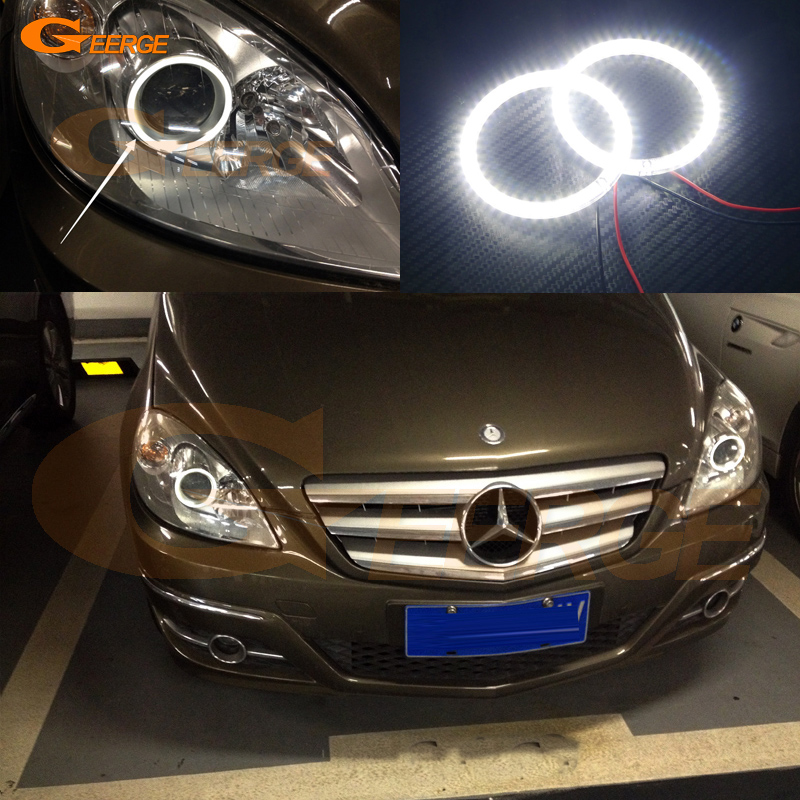 For Mercedes-Benz B-Class W245 B160 B180 B170 B200 2006-2011 Excellent Angel Eyes Ultra bright smd led Angel Eyes kit for mercedes benz b class w245 b160 b180 b170 b200 2006 2011 excellent multi color ultra bright rgb led angel eyes kit