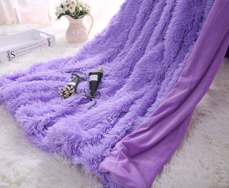 7 Colors Soft Pink Grey Long Shaggy Fuzzy Faux Fur Warm
