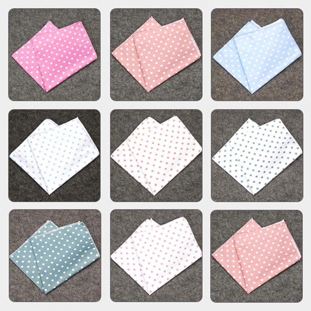 Men Fashion Polka Dot Pocket Square Handkerchief Wedding Party Classic Hanky BWTYF0194