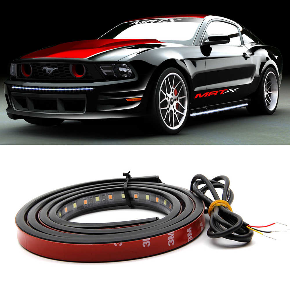 Mobil-styling Tailgate Side Light Bar LED Strip Lampu Menjalankan/Brake/Pintu Untuk Mobil Truk Trailer Colorful LED flash Light 12 v