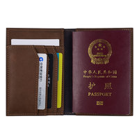 Genuine Leather Passport Holder Handmade ID Card Holder Passport Cover High Quality Travel Accessories Accept OEM