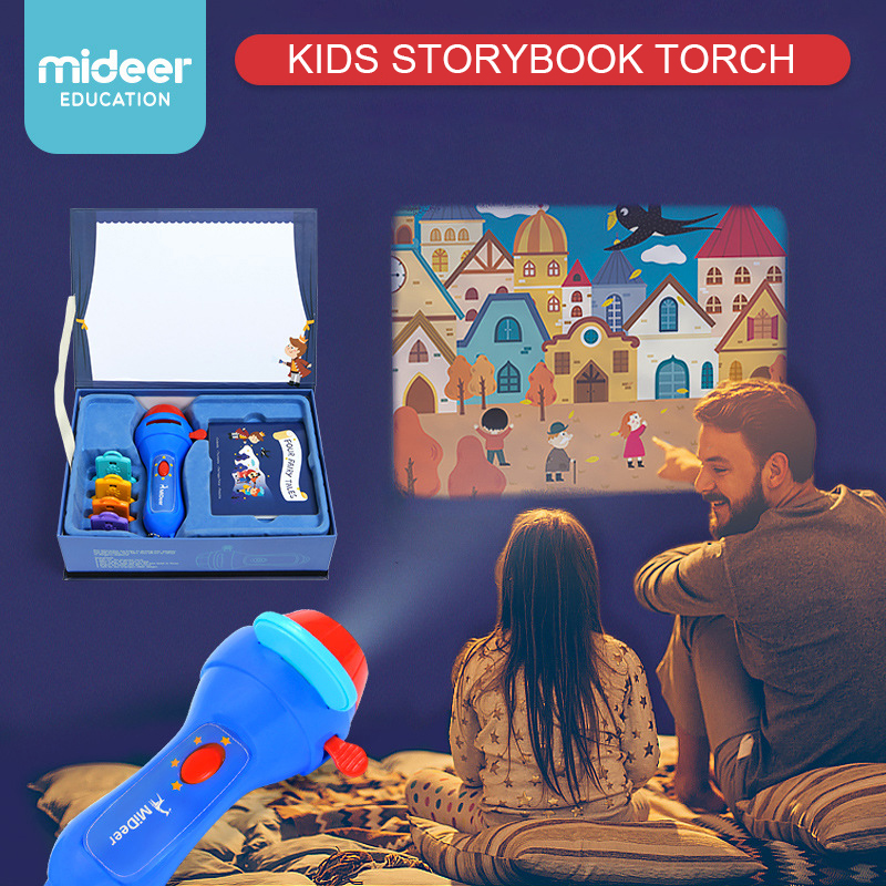 Mideer Kids Storybook Torch Projector Cinderella Pinocchio Thumbelina The Happy Prince Fancy Games Education Learning Toys Gifts thumbelina page 5