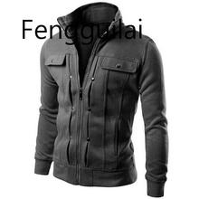 2019 мужские куртки пальто заклепки украшения с длинным рукавом твердые мужские куртки свободного по