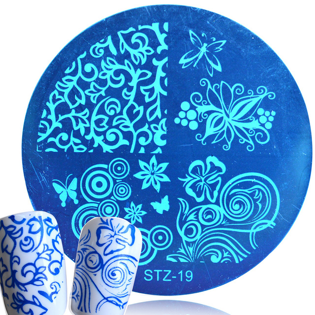 1pcs HOT Designs Flower Women Polish Stamping for Nails Templates Sexy Beauty Image Nail Art Stamp Plates Nail Stencils TRJQN17