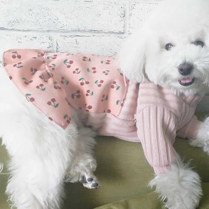 Платье для собак; Повседневная Милая одежда для щенков; комплект из двух предметов; платье для маленьких собак; нарядная юбка-пачка; свитера для чихуахуа
