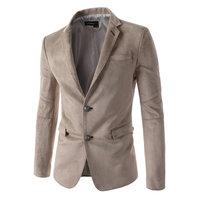 La MaxPa New Men S Suede Blazer Casual Slim Fit Jackets Double Button Blazers Male