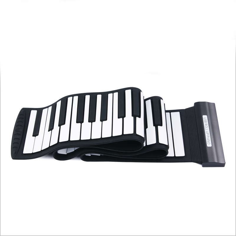 Flexible 88 Keys USB Flexible Roll up Roll-up Electronic Piano Keyboard Professional punk style exaggerated square hollow out conjoined ring cuff bracelet for women