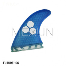 Ebuy360 (three items/lot) 2016 Future G5 Surfboard Fin Rudder Dimension M Fiberglass Honeycomb Surf Fins 3PCS Blue