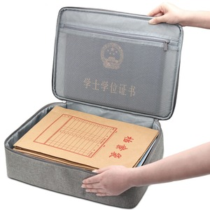 Image 3 - Boona シングル & デュアルオックスフォード防水ドキュメントバッグオーガナイザー論文収納ポーチ資格バッグ卒業証書収納ファイルポケット