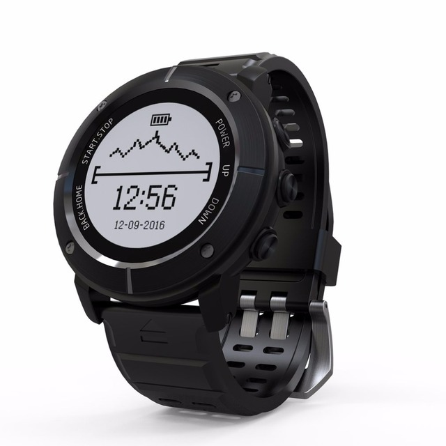 Men's GPS SOS Thermometer Pressure Gauge Heart Rate Monitor Sports Watch
