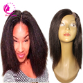 Бразильский короткий боб человеческих волос UPart парики необработанные итальянский яки прямо у части парики светло-яки боб стилем человеческих волос для чернокожих