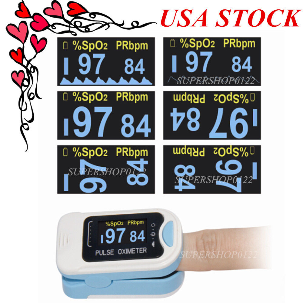 207 CONTEC HOT US seller Finger Tip Pulse Oximeter Blood Oxygen SpO2 Monitor CE CMS50N