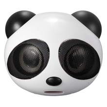 Subwoofer Laptop Multimedia Stereo-Speaker Panda Portable Usb Super-Bass Mini with Mic