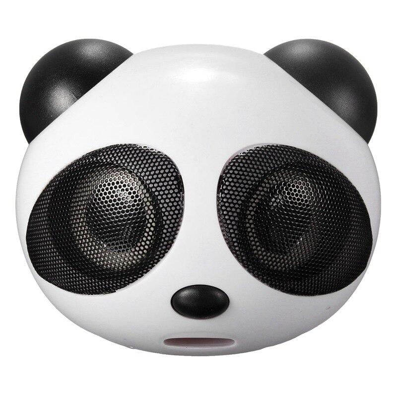 Panda Multimedia USB portátil Mini Digital cuadrado 3,5mm con Cable Super Bass Subwoofer altavoz estéreo con el mic para el ordenador portátil de escritorio