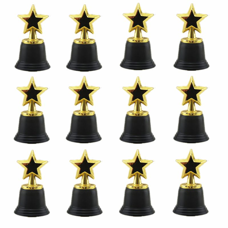 Plastic Tulip Shape Trophy Cup Prize Educational Prop Kid Award Toy Table Decors