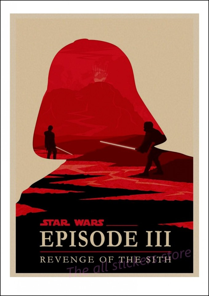 Vintage Star Wars Poster Retro Art Classic House Decorated Movie Revenge Of The Sith Star Wars Kraft Posters Wall Stickers 5005 Wall Sticker Vintage Star Warsposter Retro Aliexpress
