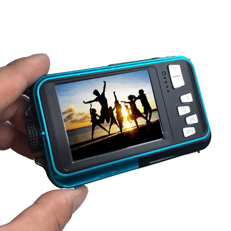 HTB1mrFocgKTBuNkSne1q6yJoXXaD Waterproof Digital Camera Dual Screens (Back 2.7 inch + Front 1.8 inch) HD 1080P 16x Zoom Camcorder Cam  DC998