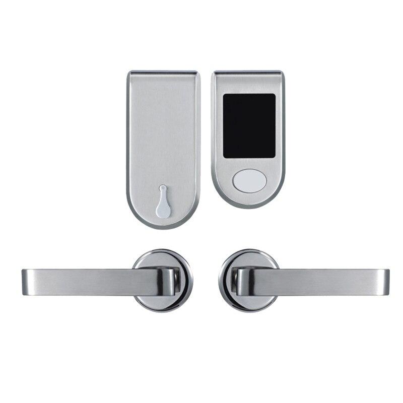 L&S Electronic Card Door Lock RFID Card with Key For Hotel Home Apartment Office Split Design Smart Lock L16059BS top grade advanced digital 125khz rfid lock electronic rfid smart card key hotel card lock et830rf