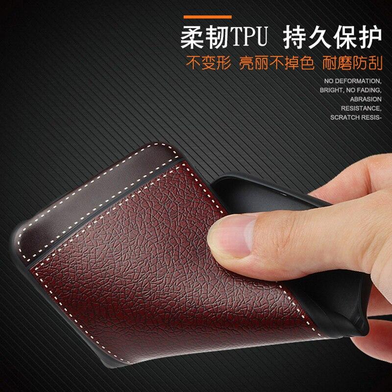 Litchi mönster cortex silikonfodral för Meizu M5s lychee läder - Reservdelar och tillbehör för mobiltelefoner - Foto 6
