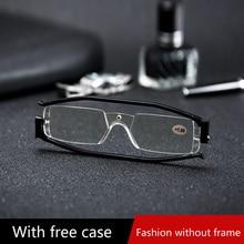 360 градусов вращение складные очки для чтения диоптрий Для мужчин Для женщин складные пресбиопические очки для чтения лупа с Чехол