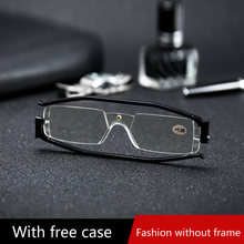 30329228a 360 درجة دوران للطي نظارات للقراءة الديوبتر الرجال النساء طوي طويل النظر  نظارات للقراءة المكبر مع حالة