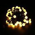 Multicolor 110 V/220 V 5 M 50 LED Linkable Bola férias Luz Da Corda para a Decoração Home/Casamento/aniversário/Feriado/Partido Chrismas