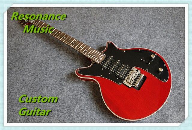 חדש הגעה Suneye בריאן מיי חשמלי גיטרה 24 Frets פלויד טרמולו אדום צבע & יכול להיות שונה
