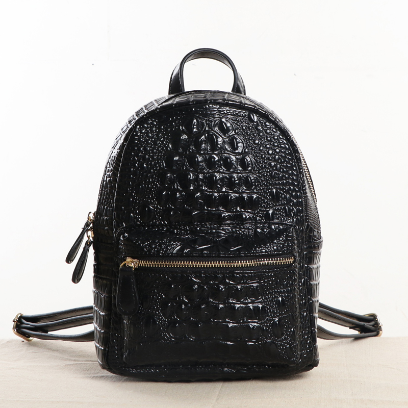 2019 Famous Designer Natural Leather Crocodile Grain Women Backpack Youth Women s Casual Rucksack Party Day
