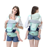 2019 Baby Carrier 3 Colors Infant Baby Hipseat Carrier Front Facing Ergonomic Kangaroo Baby Wrap Sling For Baby Travel 0 3Y