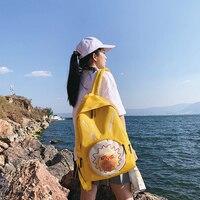 Funny 3D Hambuger Women Backpacks Large Capacity Canvas Women Travel Backpacks Harajuku Bags Woman Bookbags Schoolbags For Girls